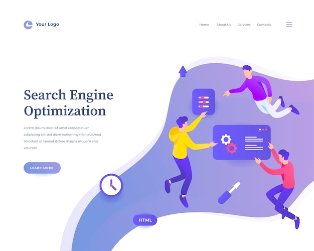 Search engine optimization web template