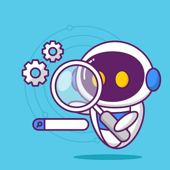 Search engine optimization with cute robot