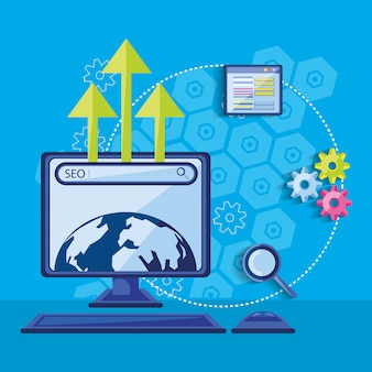 Search engine optimization with desktop