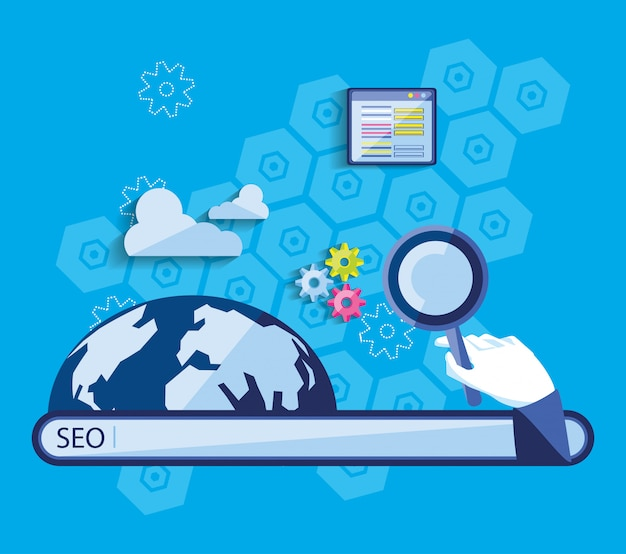 Search engine optimization with world planet