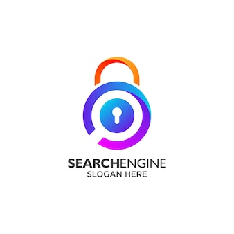 Search engine and privacy logo design