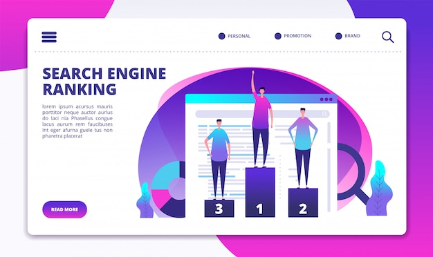 Search engine ranking website template