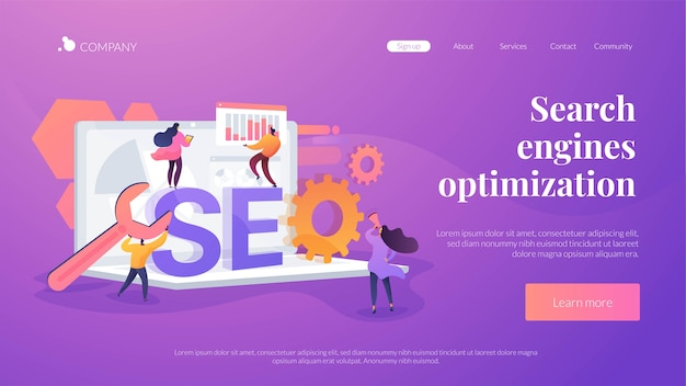 Search engines optimization landing page template