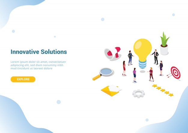 Search or find ideas or solution concept for website template landing or homepage