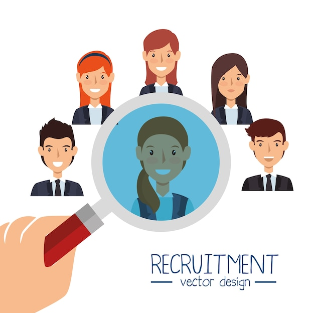 Search human resources recruit design