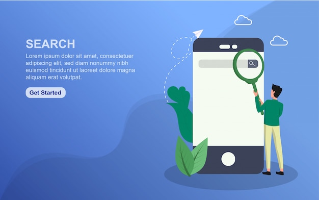 Search landing page template