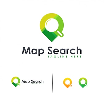 Search location logo , map search logo  flat