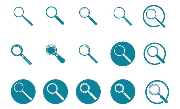 Поиск вектор логотипа увеличительного стекла