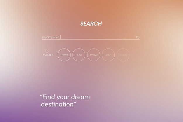 Search page design