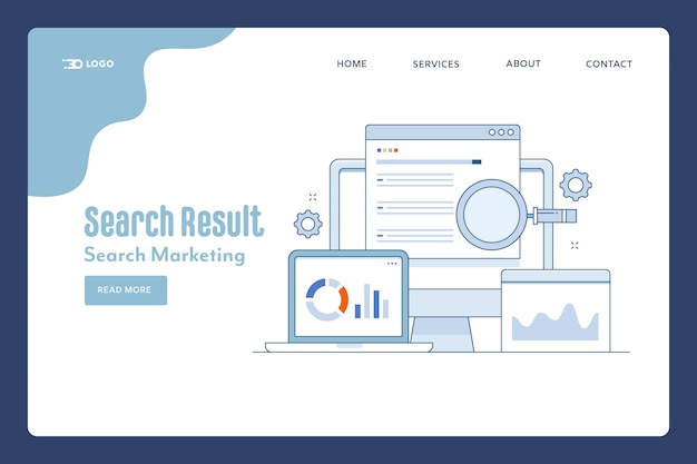 Search result landing page