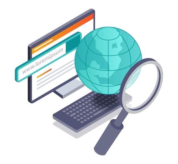 インターネットで世界の情報を検索する