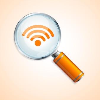 검색 wifi 개념은 웹 사이트 및 모바일 응용 프로그램에 사용할 수 있습니다.