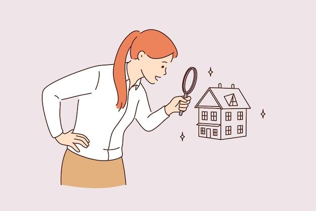 새 집과 부동산 개념 검색