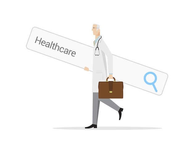 Searching healthcare options concept