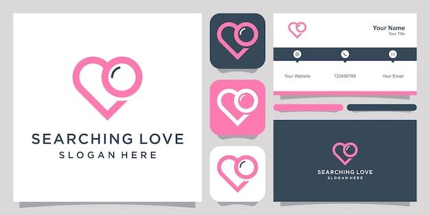 사랑 로고 아이콘 기호 템플릿 로고 및 명함 검색