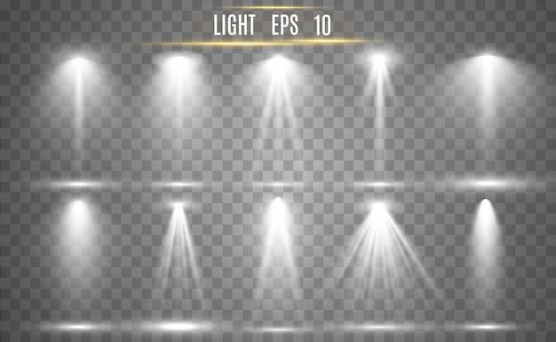 Прожекторная коллекция для сценического освещения, светопрозрачных эффектов. яркое красивое освещение с прожекторами.