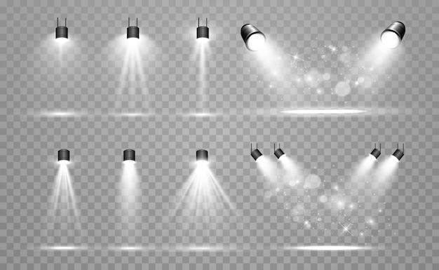 Коллекция прожекторов Premium векторы