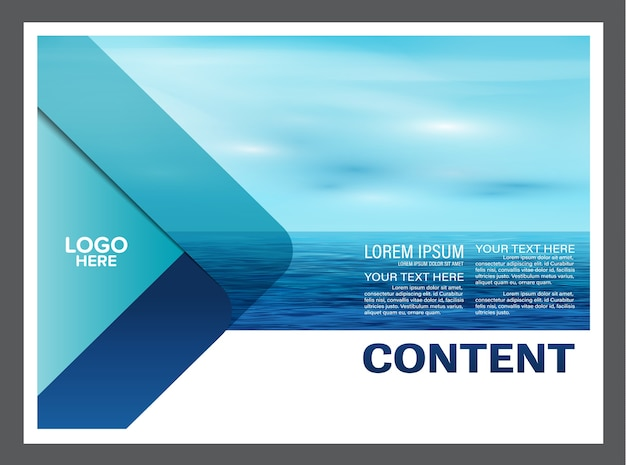 Seascape and sky flyer brochure template