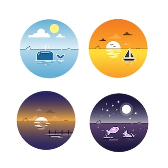 Seascapes day cycle set