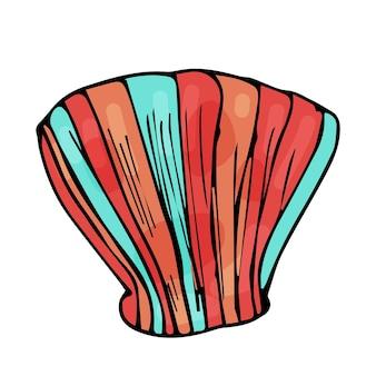 孤立した白い背景の上の貝殻。