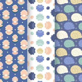 Seashell pattern collection