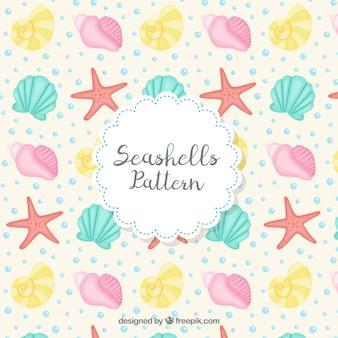 Seashells pattern design