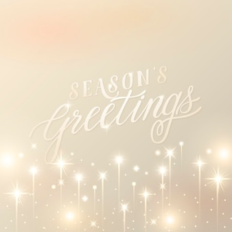 Season greeting on gold background