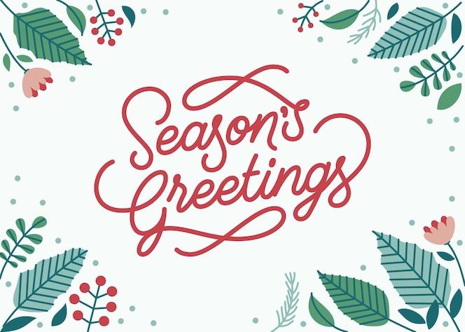 приветствие сезона надписи фон с зимней темой