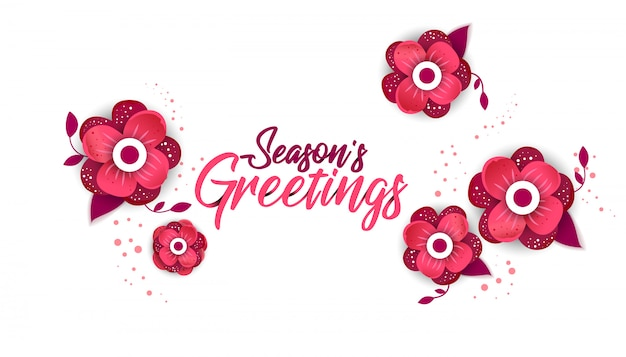 Season's greeting template
