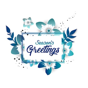 Season's greeting template
