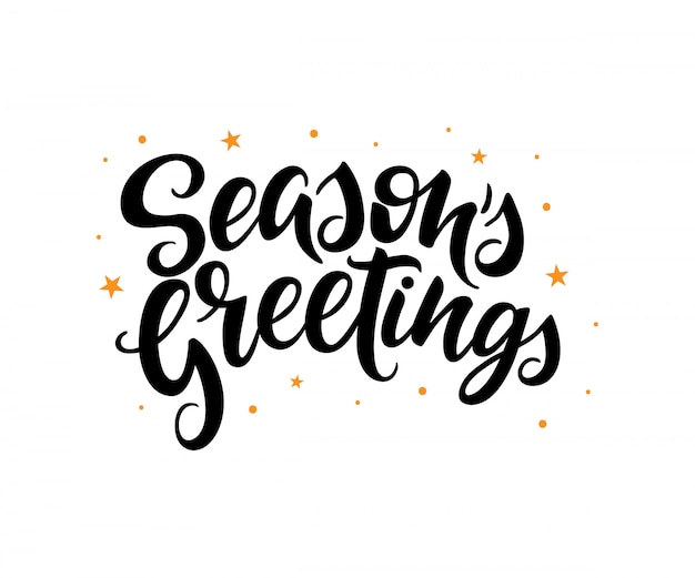 Season's greetings lettering.