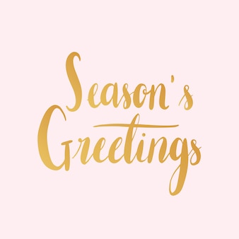 Season s greetings typography style vector