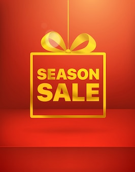 Season sale banner