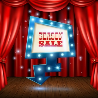 Season sale light banner illustration
