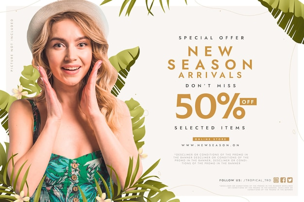 Season sale special offer background