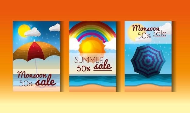 季節の夏のポスター