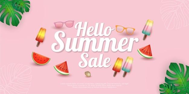 Season summer sale concept