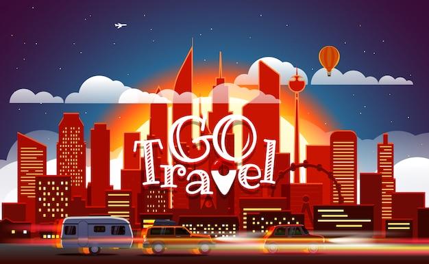 Season travelling concept. vector illustration