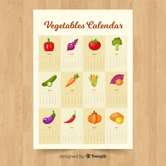 Seasonal calendar of vegetables and fruits
