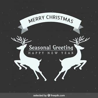 Seasonal deers christmas greeting