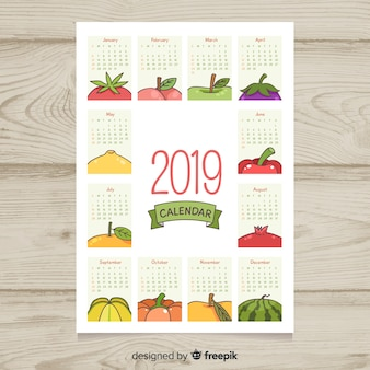 Seasonal fruits and vegetables calendar