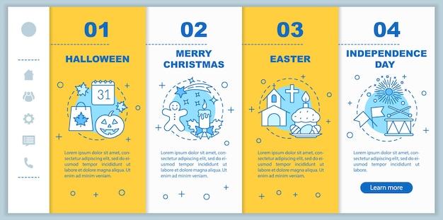 계절별 휴일 온 보딩 모바일 웹 페이지 템플릿