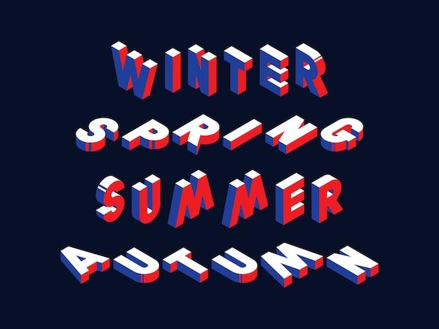Seasonal isometric concept illustration