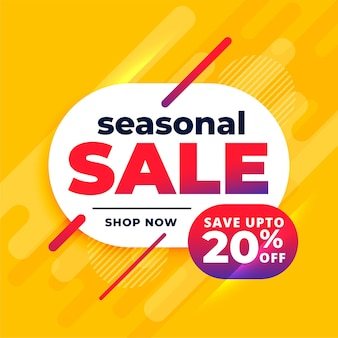 Seasonal sale abstract yellow