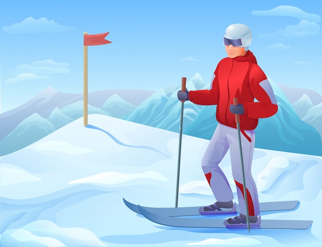 Seasonal sport recreation background