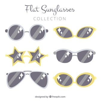 Seasonal sunglasses collection in flat syle