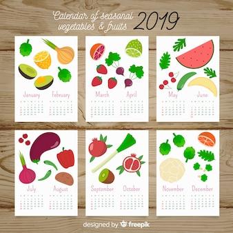Seasonal vegetables and fruits calendar