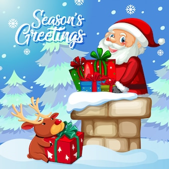 Seasons greeting santa card