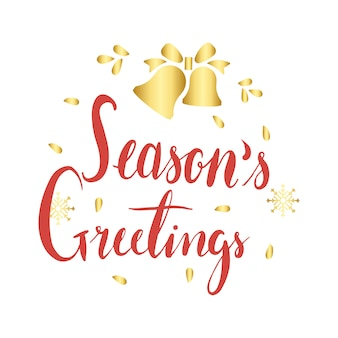 Seasons greetings message badge vector