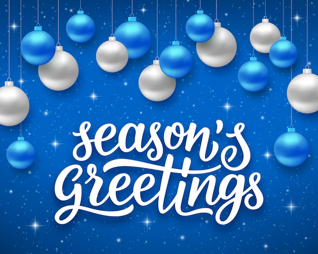 Seasons greetings. vector background for holidays